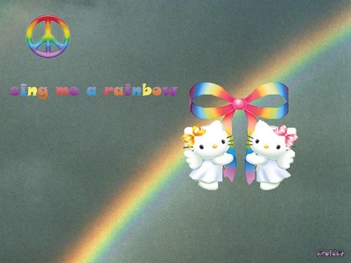 rainbow kitty wall2