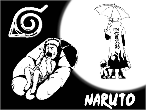 Naruto Black And White
