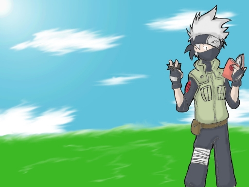 Kakashi Reading