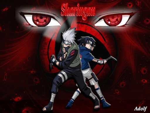 sharingan wallpapers. kakashi,sasuke sharingan
