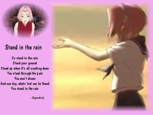 Sakura Stands in the rain